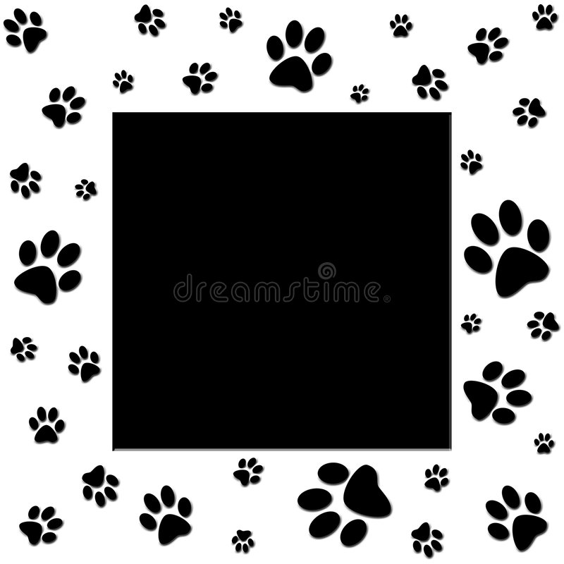 Free Paws Border Royalty Free Stock Images - 1233439