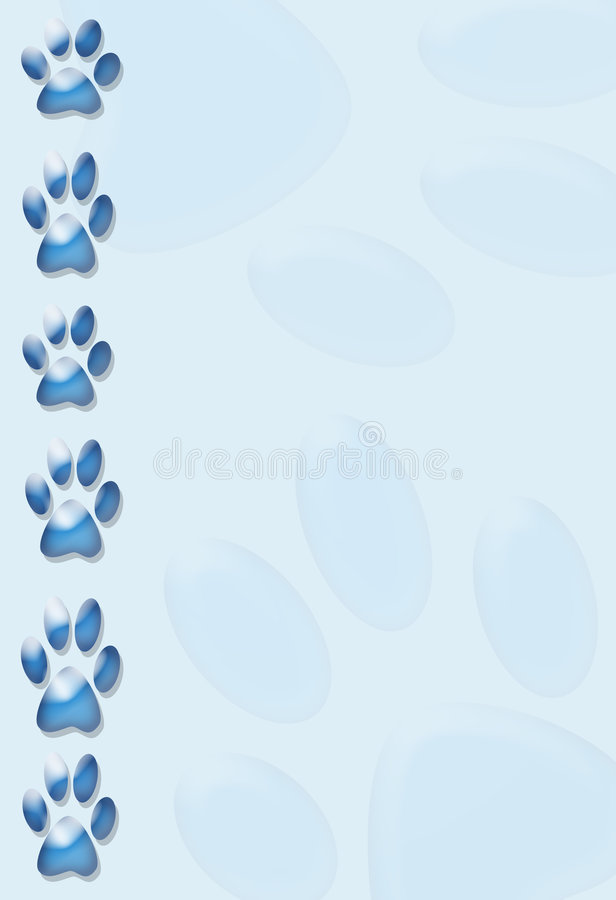 Paws border vector illustration