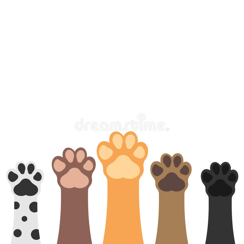 Paws up pets set. royalty free illustration