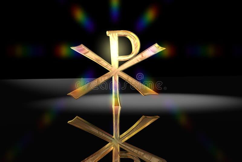 Pax Christi - symbole en travers chrétien illustration libre de droits