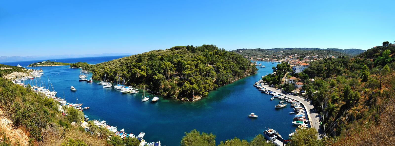 paxoi πανοράματος νησιών στοκ φωτογραφία με δικαίωμα ελεύθερης χρήσης
