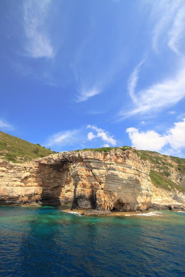 Paxos, Griechenland lizenzfreies stockbild
