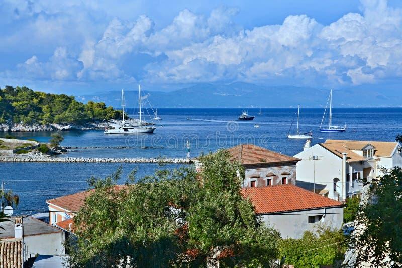 Paxos-vistas de Grécia, ilha ao continente foto de stock royalty free
