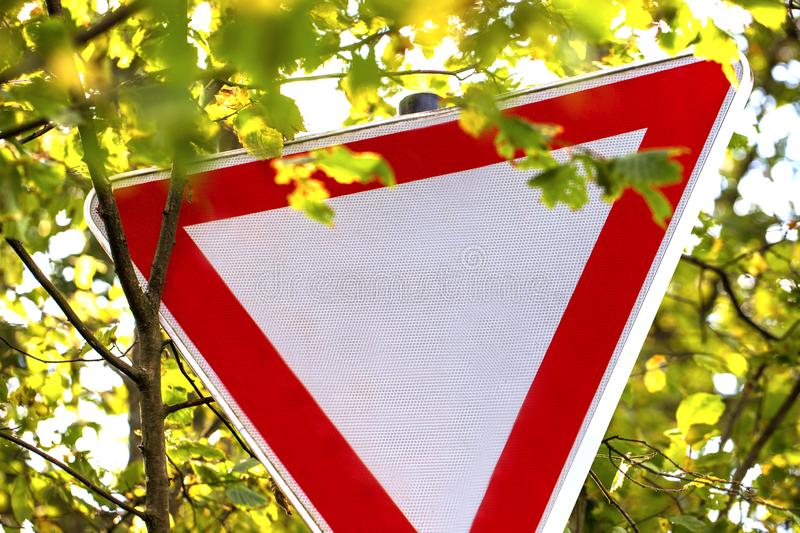 Pay attention to the right of way sign germany royalty free stock images