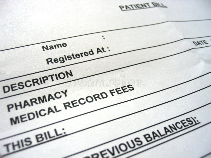 Pay the Bill stock photography