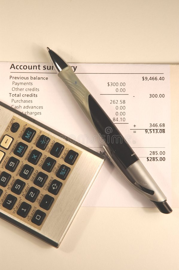Pay the Bills royalty free stock photo