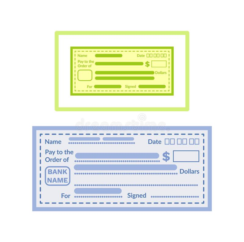 Blank Check Stock Illustrations