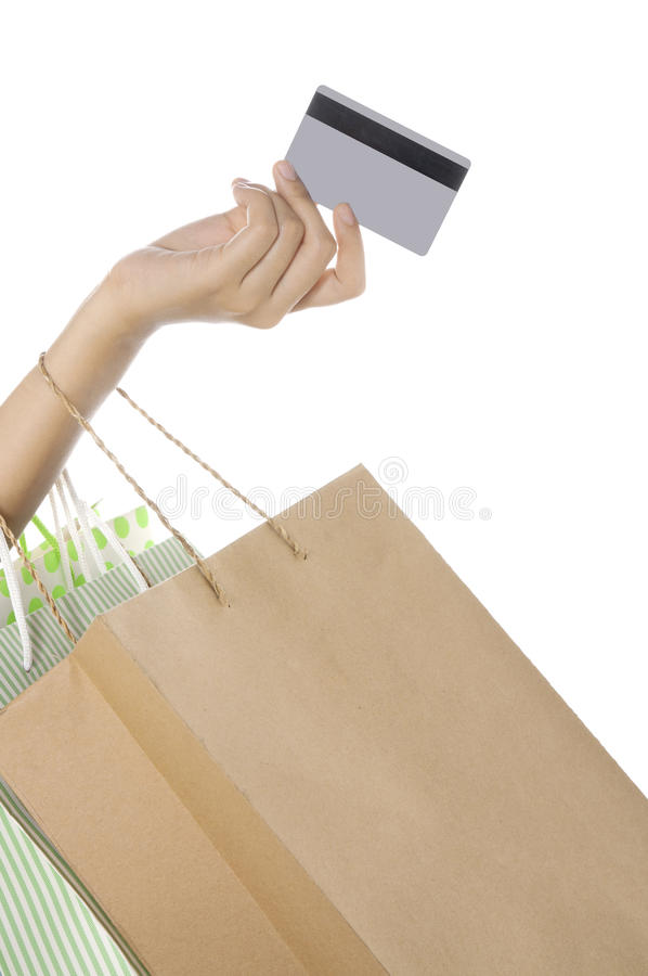 Pay With Credit Card stock images