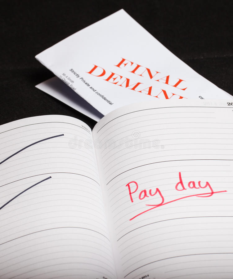 Pay day loan. Concept shot stock image