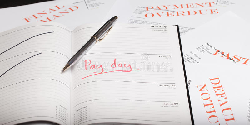Pay day loan. Concept shot royalty free stock photo
