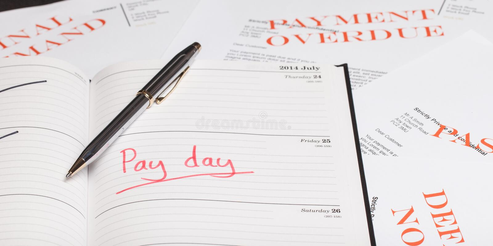Pay day loan. Concept shot stock photo