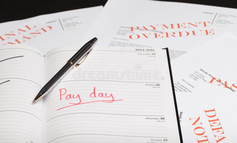 Pay day loan. Concept shot royalty free stock photos