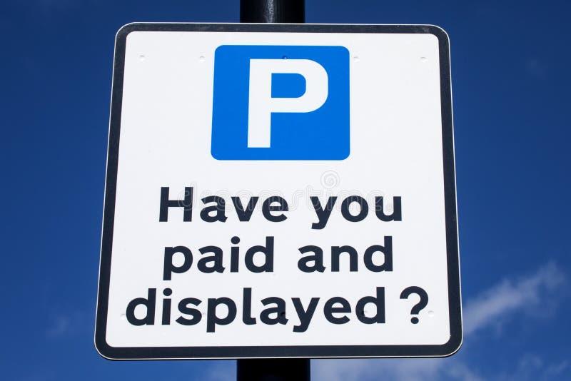 Pay and Display Car Park stock photos