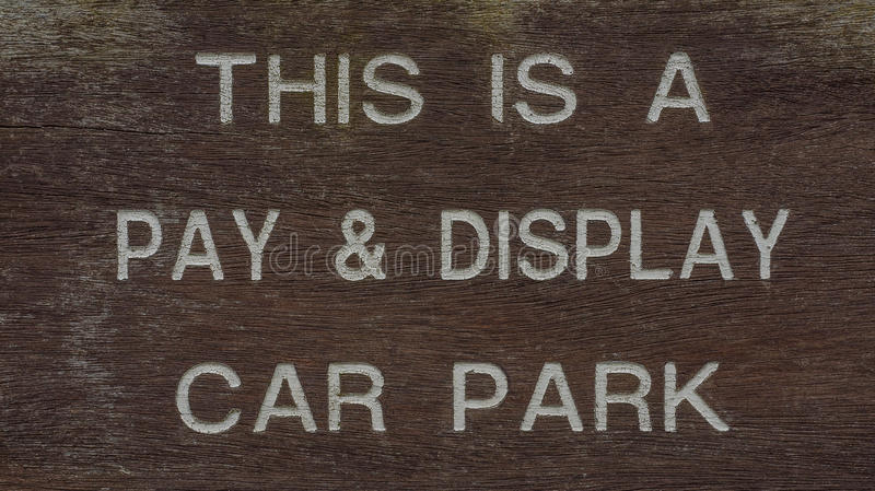 Pay and Display car parking sign royalty free stock photography