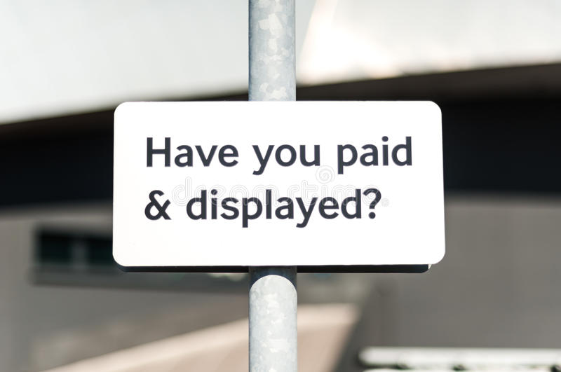 Download Pay And Display Carpark Sign Stock Photo - Image: 32280688
