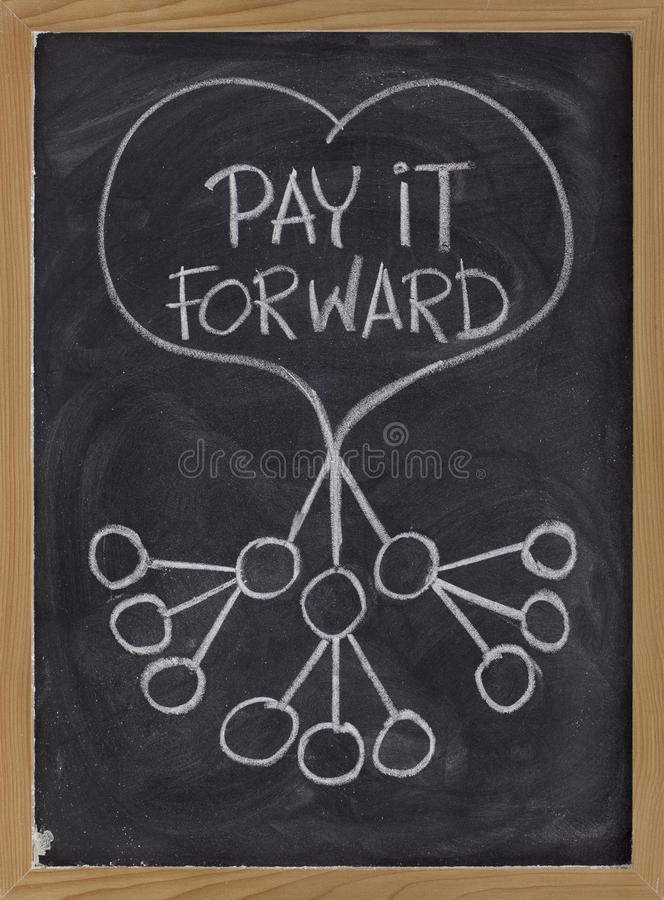 Download Pay it forward stock photo. Image of handwriting, kindness - 13503894