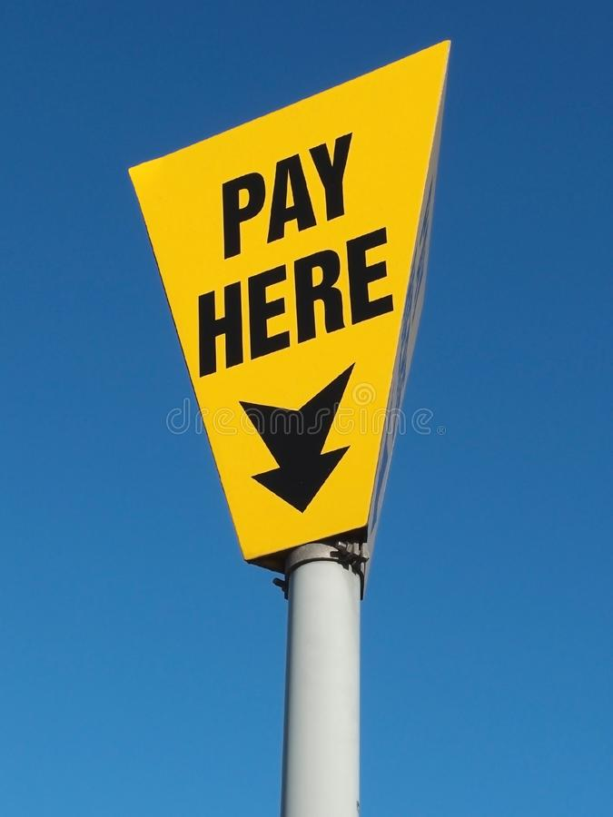 Pay Here stock images