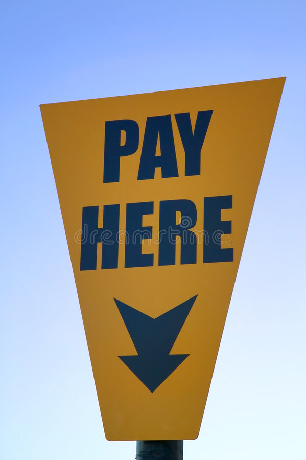 Pay here royalty free stock photo