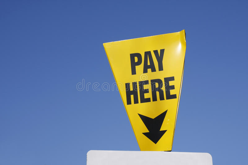 Download Pay Here sign stock photo. Image of blue, signpost, sign - 23134338