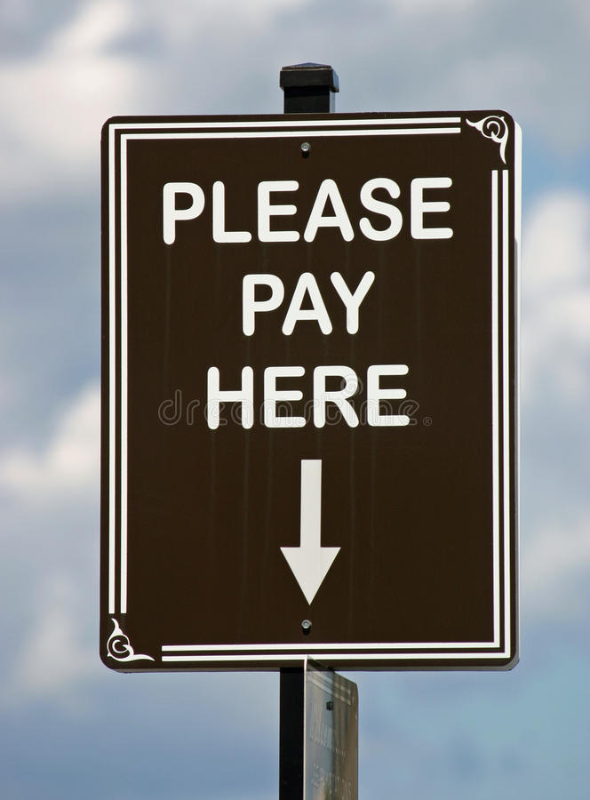 Pay Here Sign royalty free stock photography