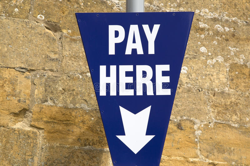 Pay Here Sign royalty free stock photos