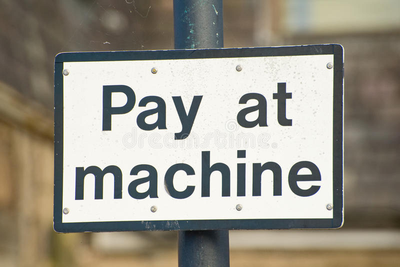 Download Pay At Machine Sign. Royalty Free Stock Image - Image: 16618966
