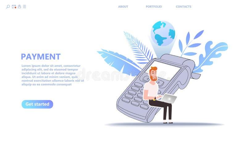 Pay online concept illustration set royalty free illustration