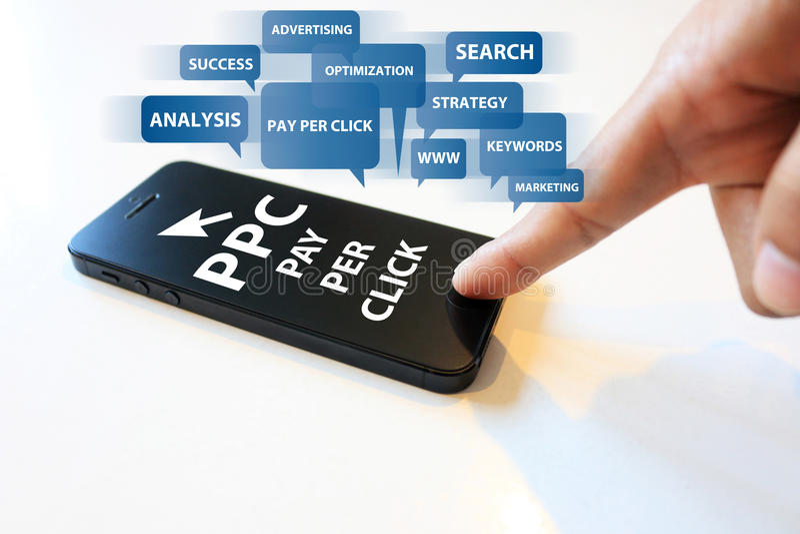 Pay per click concept stock image