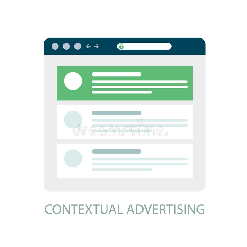 Pay Per Click icon, contextual advertising - ppc marketing vector illustration