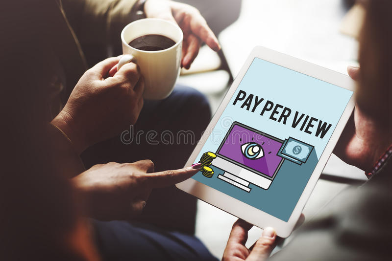 Pay Per View Online Marketing Concept royalty free stock photos