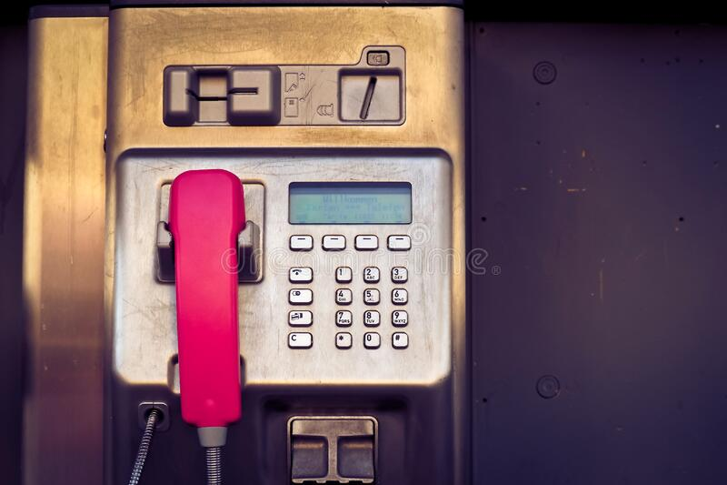 Pay phone closeup royalty free stock image