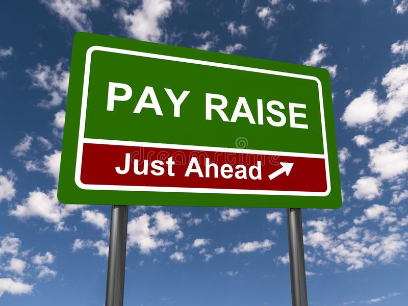 Pay raise just ahead stock photography