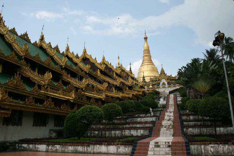 Paya di Shwedagon fotografia stock libera da diritti
