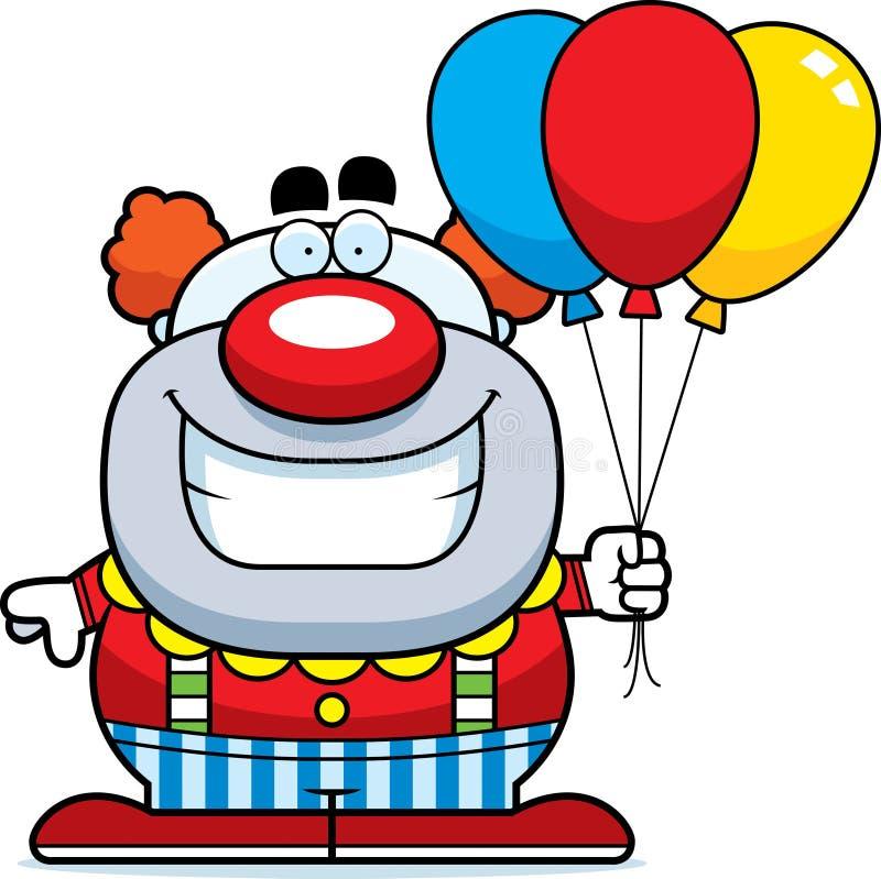 Payaso Balloons de la historieta stock de ilustración
