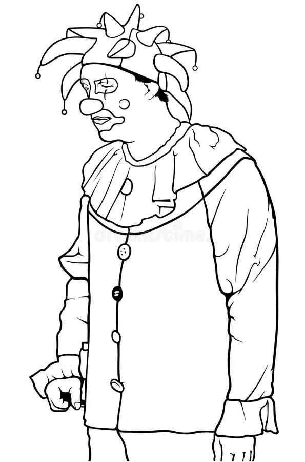 Payaso blanco y negro Standing libre illustration