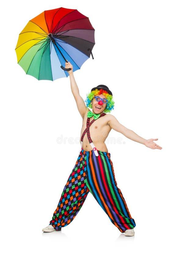Download Payaso Con El Paraguas Aislado Imagen de archivo - Imagen de feliz, parasol: 41915821