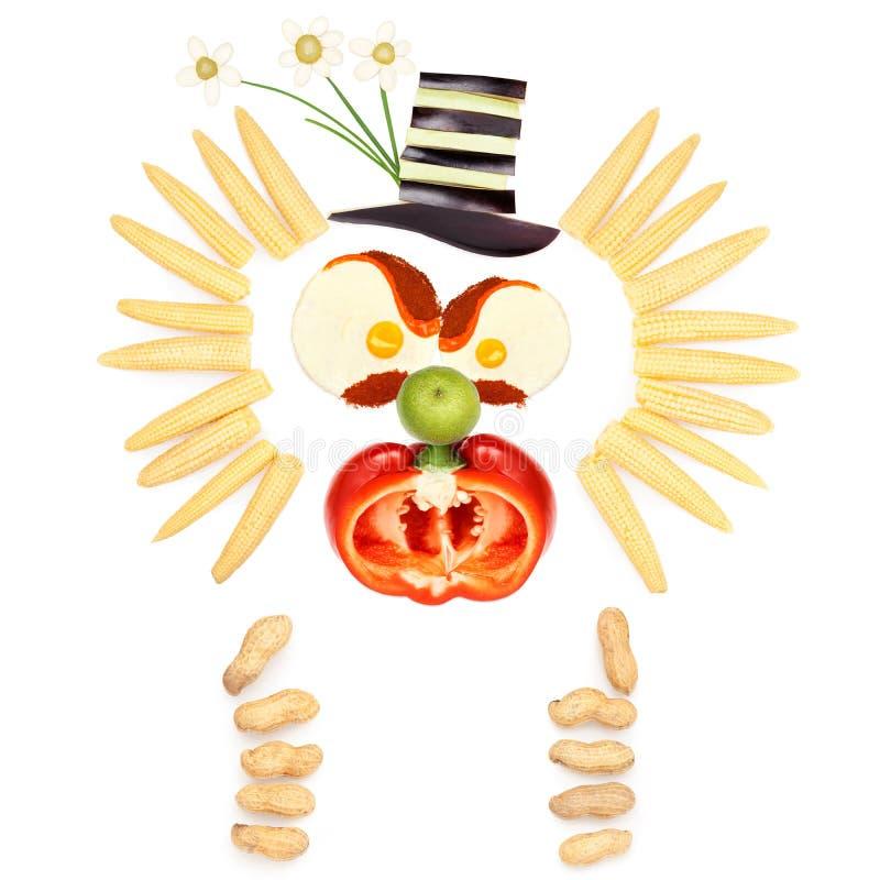 Payaso con sabor a fruta enojado imagen de archivo libre de regalías