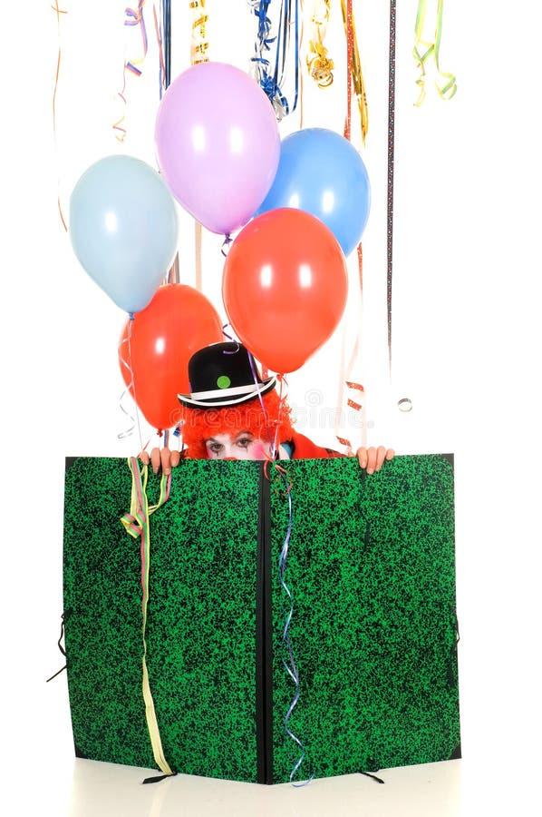 Payaso de la celebración imagen de archivo