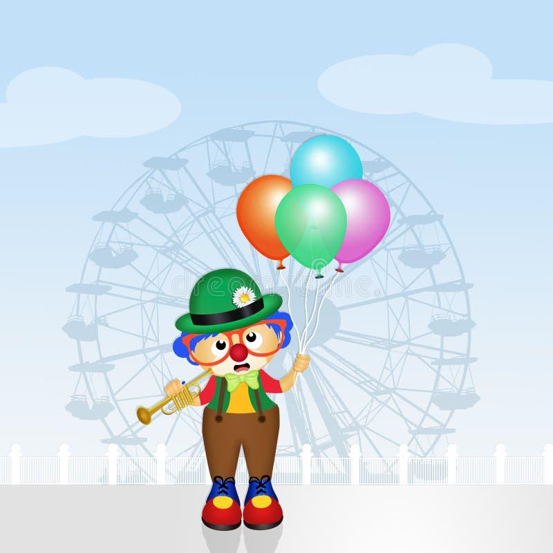 Payaso del bebé con los globos libre illustration