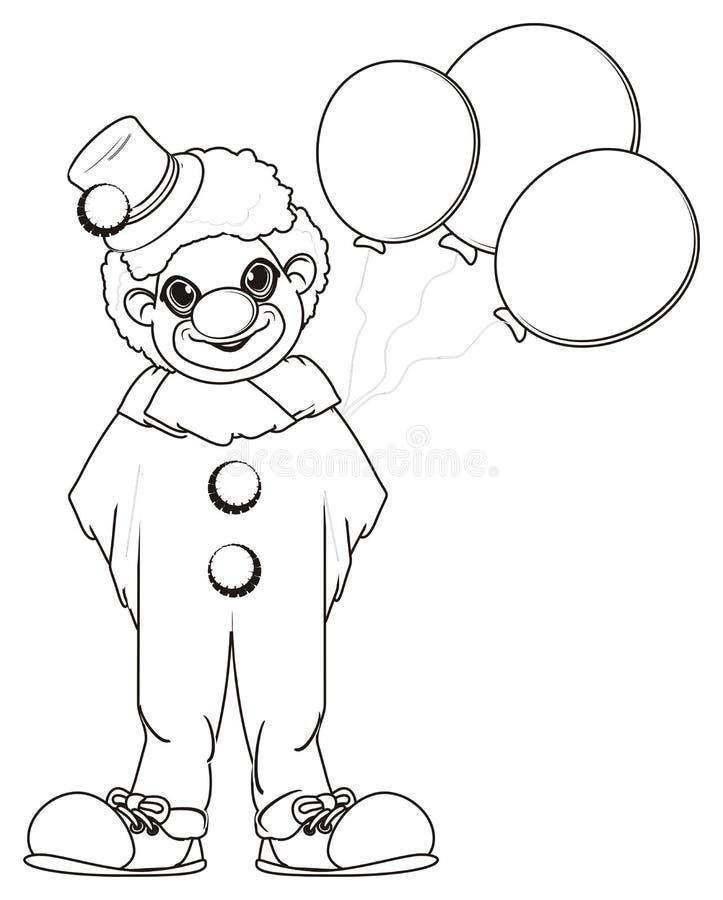 Payaso del colorante con los globos libre illustration