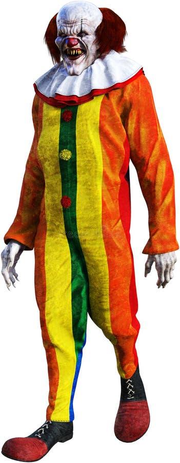 Payaso malvado, mún hombre de Halloween, aislado stock de ilustración