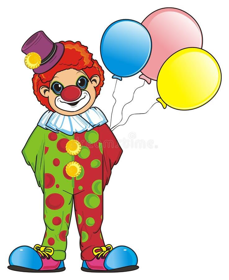 Payaso y globos libre illustration