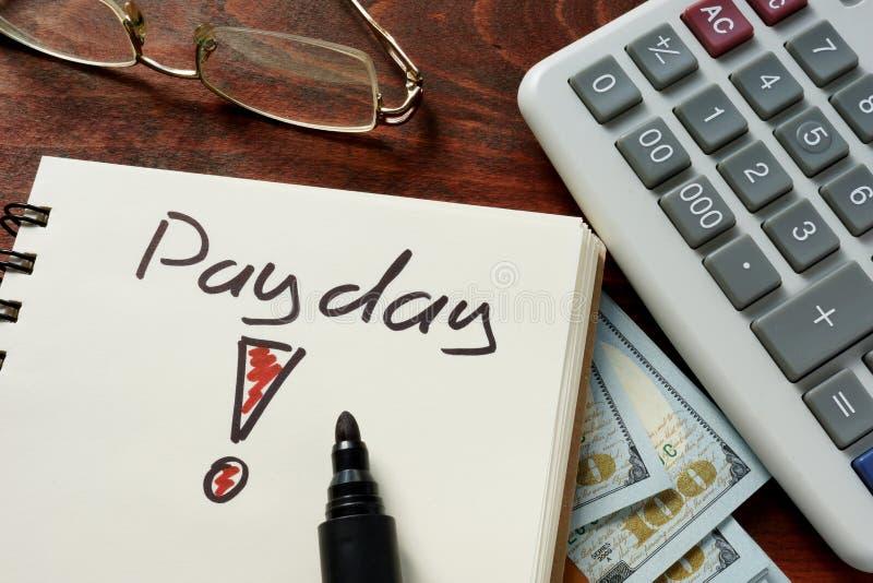 payday στοκ φωτογραφία με δικαίωμα ελεύθερης χρήσης