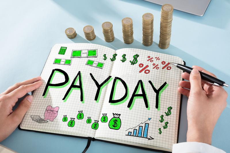 Payday Employee Compensation stock image