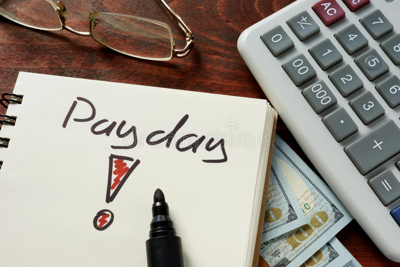 Payday royalty free stock photo