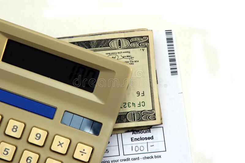 Paying Bills Stock Photography