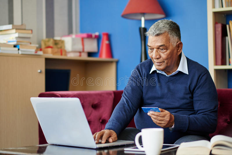 Paying bills stock image