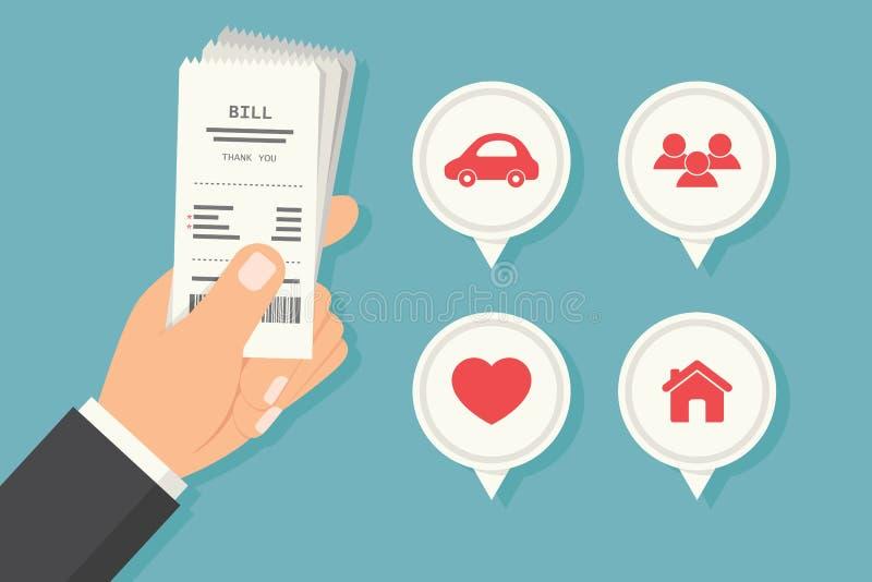 Paying bills stock photos
