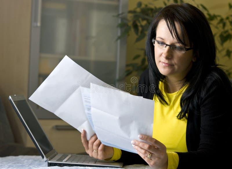 Paying bills online royalty free stock photos
