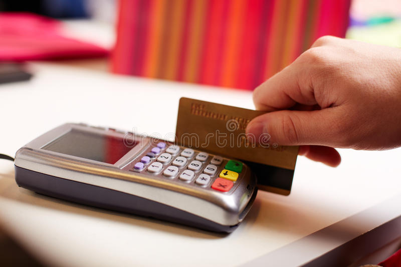 Download Paying by card stock photo. Image of human, detail, market - 34221198
